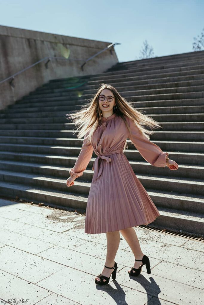 Shooting-Outfit-Tipps fliessende Stoffe